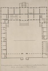 The plan of ye principal floor of Montague House